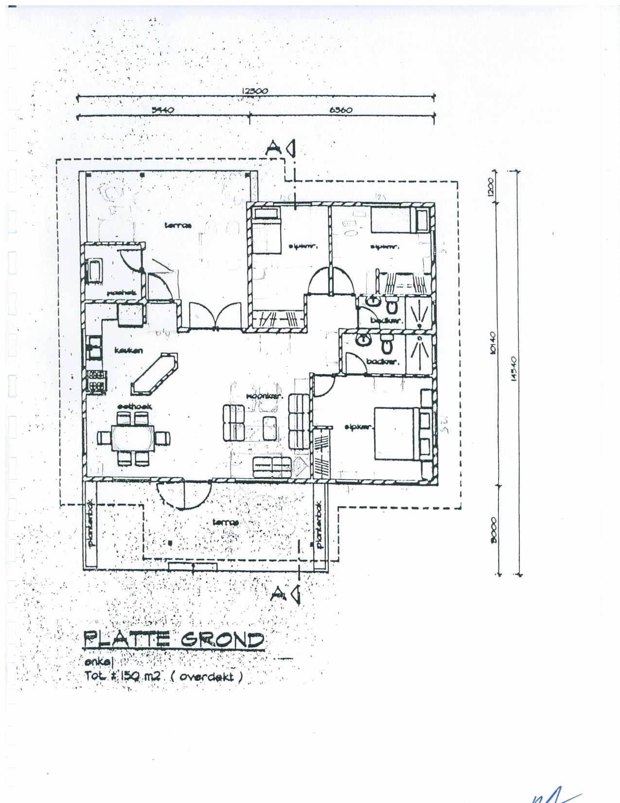 Plattegrond Professionele Keuken : Cura?ao Hofi Abou House 18 Geers Makelaardij en Taxatiebureau b.v.